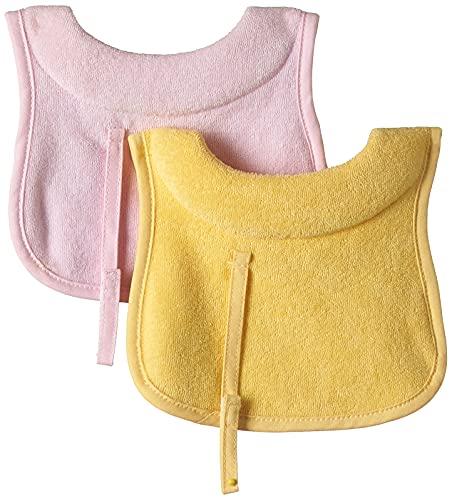 Chicco Bavaglina in Tessuto Extra Assorbente, 2 Pezzi, Collo Regolabile, Colori Assortiti