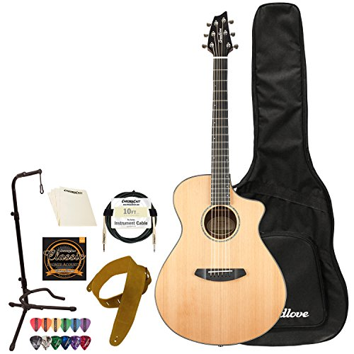 Breedlove Solo Concert CE Red Cedar - Ovangkol Acoustic-Electric Guitar with Accessories