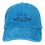 Hombre Mujer Gorras de béisbol, Pisces Shirt Denim Hat Adjustable Men Curved Baseball Caps