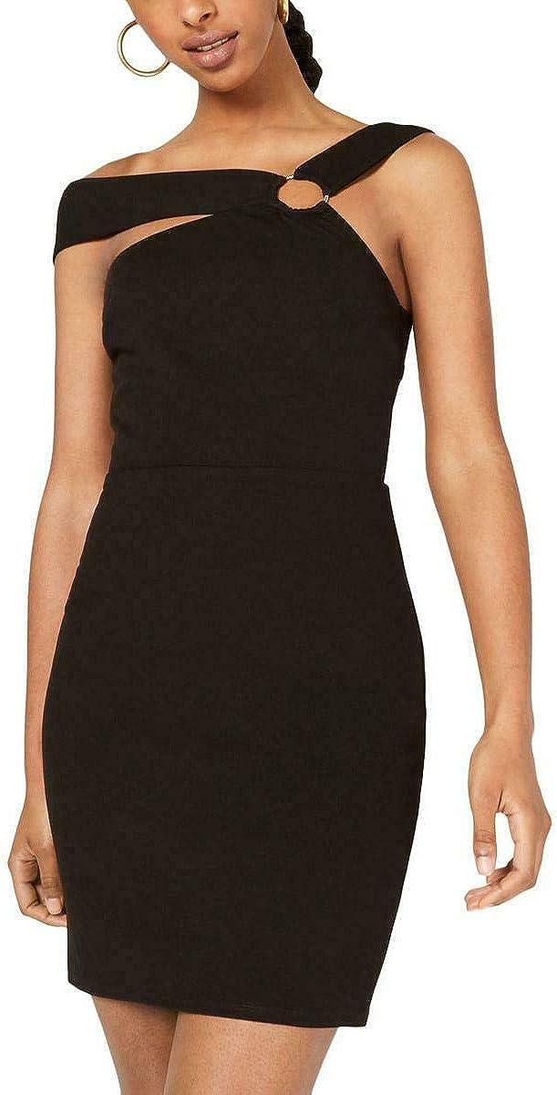City Studio Womens Juniors O-Ring Halter Cocktail Dress Black 0