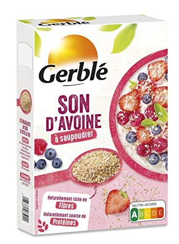 Gerblé Saupoudrage, Son d'Avoine à saupoudrer, Super-aliment, Source naturelle de fibres et de minéraux, Riche en Vitamine B1 et B6, 1 Boîte, 20 Portions, 400g, 199651