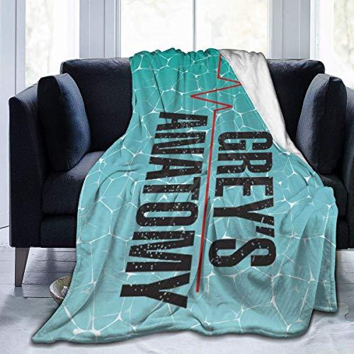 HFMVU Greys-Anatomy Blanket Fuzzy Luxury Throw Warm and Cozy Flannel Bed Blanket for Sofa Travel Yoga Camping Picnic Cinema Home Beach Sized for Nursery Kids Adults 60'X50'