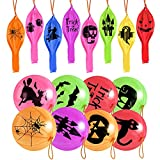 36Pcs Halloween Punch Balloons Halloween Party Favors Decorations Hanging Punching Balloons for Kids Toys Games Party Supplies Gifts 12 Styles Assorted Colors(color random)