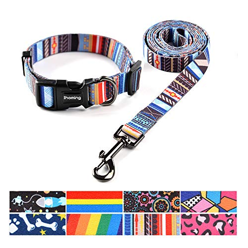 Ihoming Dog Collar and Leash Set Combo Safety Set for Daily Outdoor Walking...