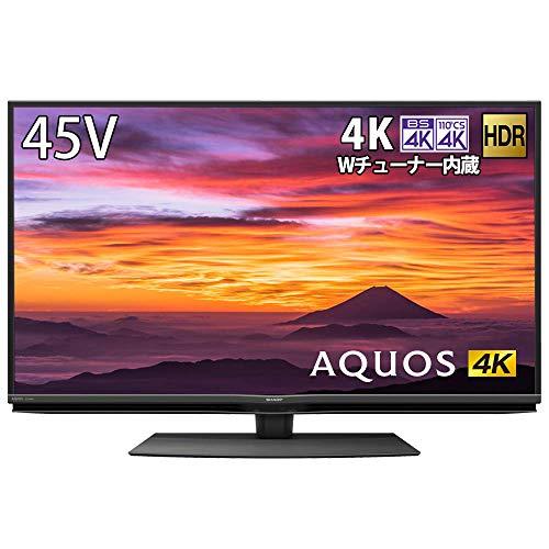 シャープ 4K チューナー内蔵 液晶 テレビ Android TV HDR対応 N-Blackパネル AQUOS 45V型 4T-C45BN1