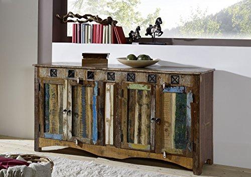 MASSIVMOEBEL24.DE Altholz massiv Mehrfarbig Massivmöbel Holz Sideboard Massivholz Möbel massiv Nature of Spirit #40