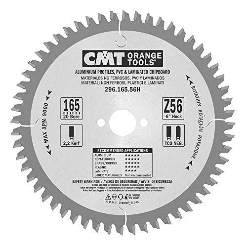CMT 296.165.56H Lemmet voor draagbare materialen, niet-ijzer, kunststof en Truciolari (industriële serie), grijs