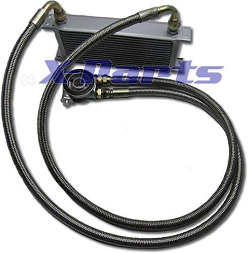 Ölkühler Anschluss Set Thermostat Stahlflex alle Autos universell 3/4 Zoll NEU