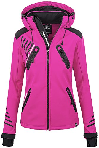 Rock Creek Damen Softshell Jacke Outdoorjacke Windbreaker Übergangs Jacke - Pink - 44/XXL