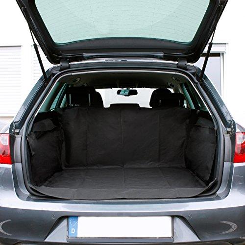 ECD Germany Kofferraumdecke für Hunde - 156 x 170 cm - Oxford Nylon 600D - Schwarz - Wasserdicht - Kofferraumschutz Kofferraummatte Kofferraumschutzmatte Hundedecke Schutzdecke Schondecke Kofferraum