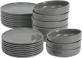 ProCook Stockholm - Service de Table en Grès - 24 Pièces/Pour 8 Personnes - Style Scandinave - Petite Assiette, Grande Ass...