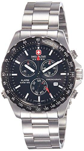 Swiss Military Hanowa Herren-Armbanduhr XL Analog Quarz Edelstahl 06-5007.04.007