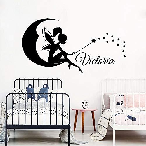 WERWN Vinilo Kindergarten Etiqueta de la Pared Hermosa Personalidad niña niño Nombre Personalizado Etiqueta de la Pared Escuela Aula decoración del Dormitorio