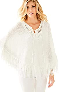 Women's Resort White Val Poncho Sweater, Size XXS XS