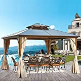 YOLENY 12'x12' Outdoor Polycarbonate Double Roof...