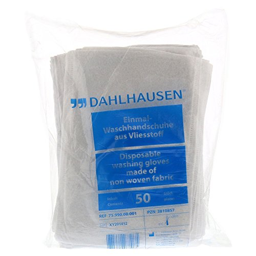 WASCHHANDSCHUH Flauschvlies 14,5x22 cm 50 St Handschuhe