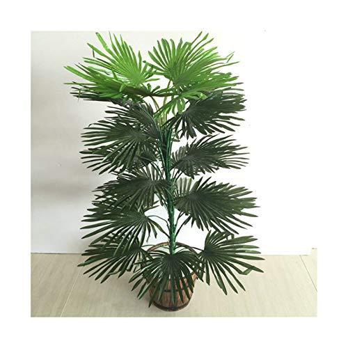 Goplnma Künstliche Tropische Palme Seltene gefälschte Pflanzen Indoor Silk Blatt Topfhotelbüro Wohnzimmer Wohnkultur Pflanzen (Color : 80cm No Basin)