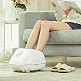 LIFEASE Steam Foot Bath Massager, Foot Spa with Fast Heating, 4 Pedicure Massage Rollers, 3 Heating Levels, 2 Adjustable Timers, Soothe Tired Feet, Safety Protection System & Water Saving, White