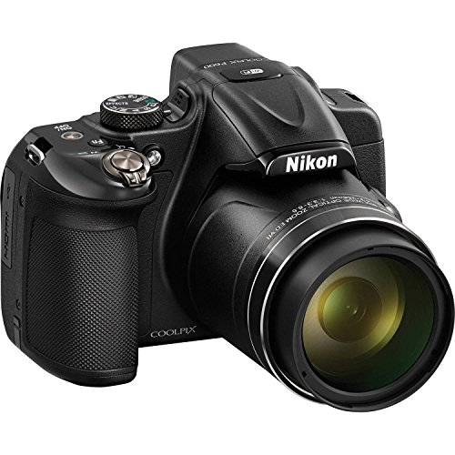 Nikon COOLPIX P600 16.1 MP Wi-Fi CMOS Digital Camera with 60x Zoom NIKKOR Lens and Full HD 1080p Video (Black) (Certified Refurbished)