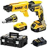 DEWALT - 18V XR 5.0Ah Li-Ion Brushless Drywall Screwdriver - DCF620P2K-QW - Cordless Electric Screwdriver with 2 Batteries and Charger - No-Load Speed ??0-4400rpm - 435W