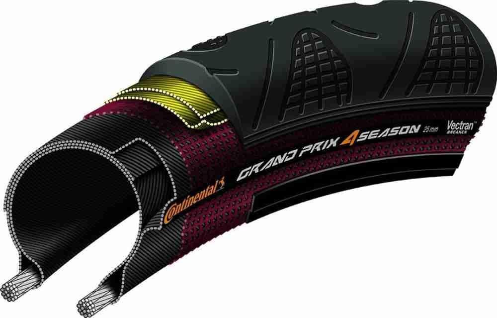 Continental Fahrradreifen Grand Prix 4 Season 28 622 0101105 Sport Freizeit