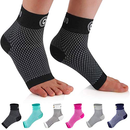 516pYeXRAzL. SS500  - CAMBIVO Ankle Support Brace 2 Pairs, Plantar Fasciitis Socks Sleeve, Compression Socks for Ankle Sprain, Ideal Foot…