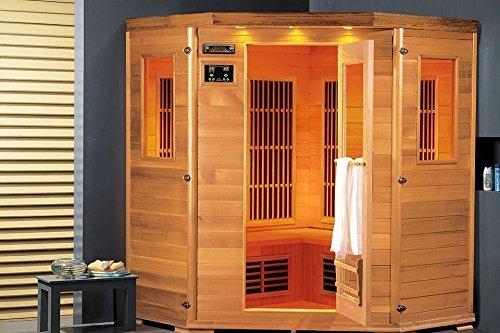 Lars 4 Topline infrarood cabine voor 3 personen en infrarood sauna, 2000 watt, infrarood warmtecabine en vele extra 's