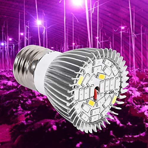 Led-plantenlamp, 5 W, full spectrum plantenlamp met 28 leds, compatibel met standaard E27-bussen