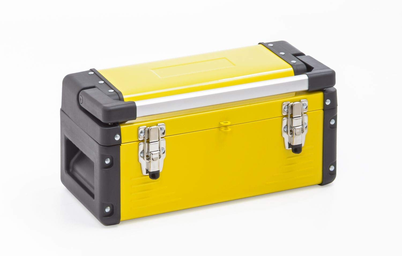 Caja de herramientas, pequeña, con mango de aluminio – Amarillo: Amazon.es: Bricolaje y herramientas