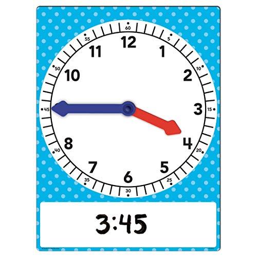 Teacher Created Resources Magnetic Foam Geared Clock, Large (20710),Multi