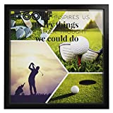 Golf Lover Gifts for Men   Wooden Shadow Box Gift for Golfer   Ideal Golfers Present for Dad and Grandpa   Driving Range Picture for Wall Decorations   Golfing Themed Picture Keepsake Box