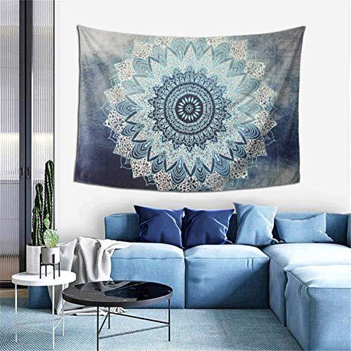 YeeATZ Mandala, hippie bohemio, flor psicodélica, decoración de pared para sala de estar (60 x 40 pulgadas)