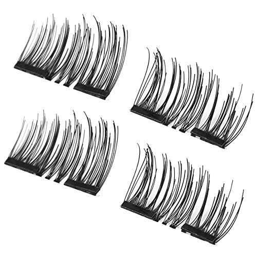 Lorenlli 4 Pcs/ensemble Léger Naturel Épais Cils Épais 3D Magnétique À La Main Femmes Épais Faux Cils Outil 001