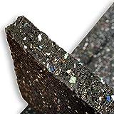 casa pura® Waschmaschinenunterlage mit hoher Vibrations- & Schalldämpfung | 60x60x2cm | aus recyceltem Gummigranulat | schwarz - 4