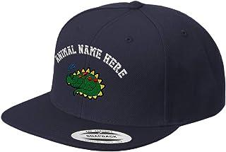 Custom Snapback Baseball Hat Snoozing Dino Embroidery Animal Name Acrylic Cap