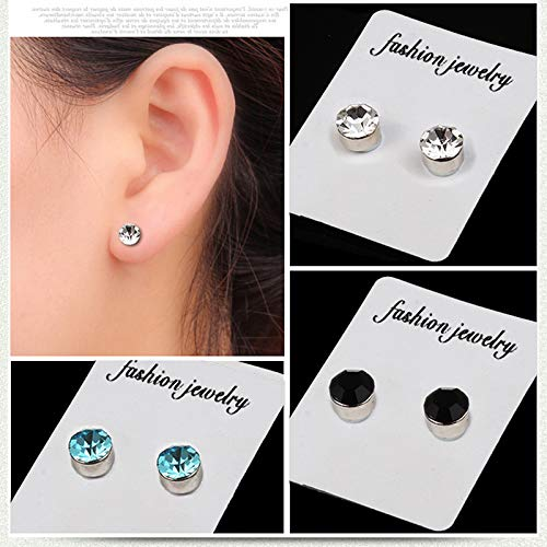 Emivery 5mm Crystal Magnetic Stud Earring Magnet Nose Ear Lip