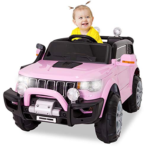 EOSAGA 12V Ride On Car Truck w/ Remote Control, Battery Powered Electric Ride On Toy Car for Kids...