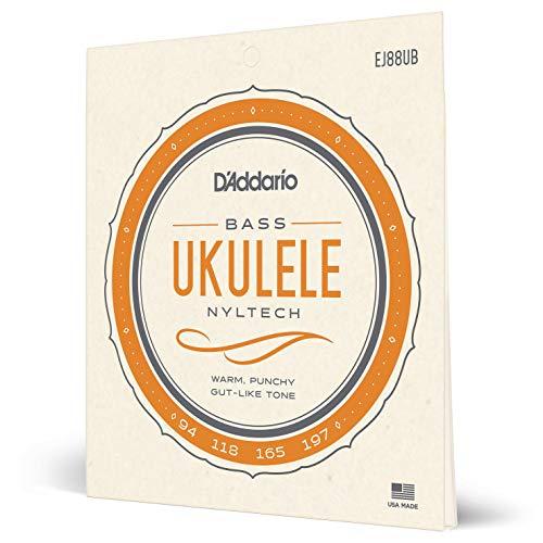 D'Addario EJ88UB. Juego de cuerdas de Nyltech para ukelele. Bajo