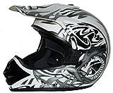 WinNet Casco da moto integrale femminile o maschile omologato C.E, Taglia: L