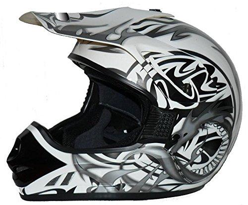 WinNet Casco da moto integrale femminile o maschile omologato C.E, Taglia: XL