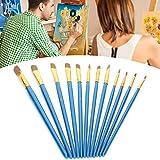 Pinceles, pinceles para pintura acrílica, pinceles para niños, 12 pinceles para pintura al óleo, pinceles para pintura, pinceles para pintura acrílica, para pintar, pintar, pintar con tinta