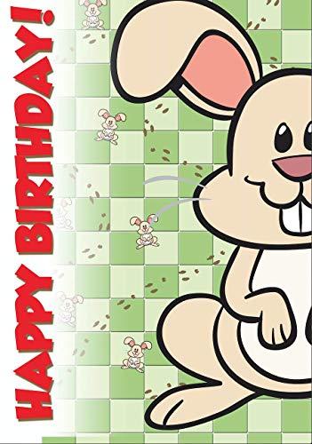 Lustige Geburtstagskarte von F.U.C.C: Rampant Rabbit