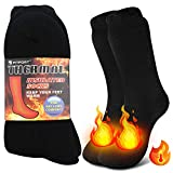 Thermal Socks for Men Women – Warm Thick Heavy Duty Insulated Heated Socks for Winter, Cold Weather, Hiking, Skiing, 2 Pairs Size10-13