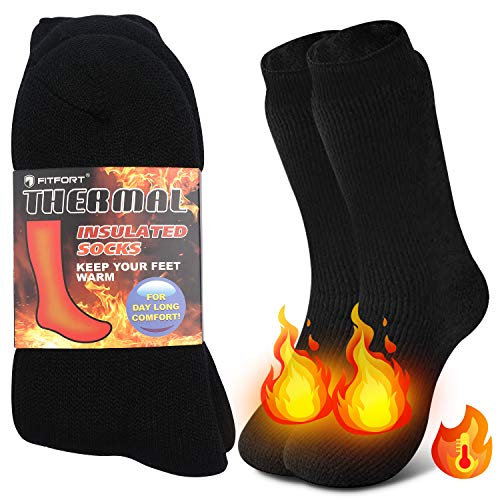 Thermal Socks for Men Women – Warm Thick Heavy Duty Insulated Heated...