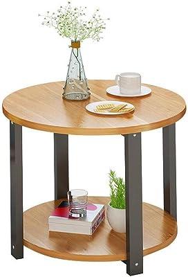 Amazon.com: Tangkula Mesa redonda de madera para salón, sofá ...