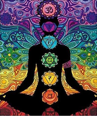 Terciopelo colorvelvet de 47x35 cm para colorear con caja de rotuladores - Meditación