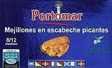 Mejillones de las Rías Gallegas en escabeche picantes- 8-12 pzs/lata- Portomar-Pack 8 x 111gr- total= 888gr.