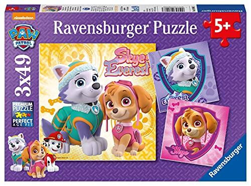 Ravensburger- Pat'Patrouille Pck de 3 Puzzles Charmantes chiennes Pat Patrouille 49 pièces, 08008