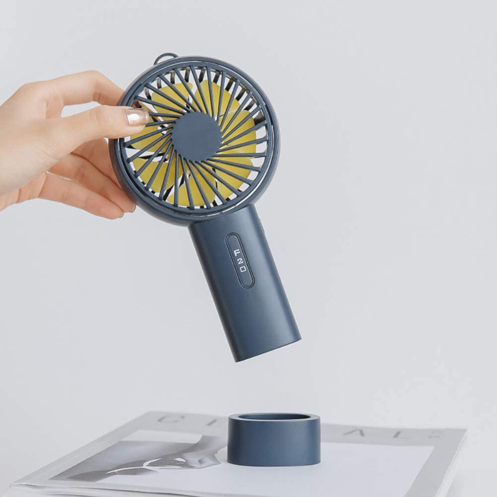Portable Angle Adjustable USB Charge Cooling Fan Cooler with Desk Base Blue FAgdsyigao Mini Handheld Fan