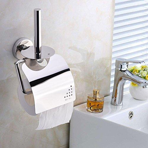 topincn de pañuelos de pared, SUS304acero inoxidable Portarrollos de papel higiénico de baño con funda para teléfono estante de almacenamiento
